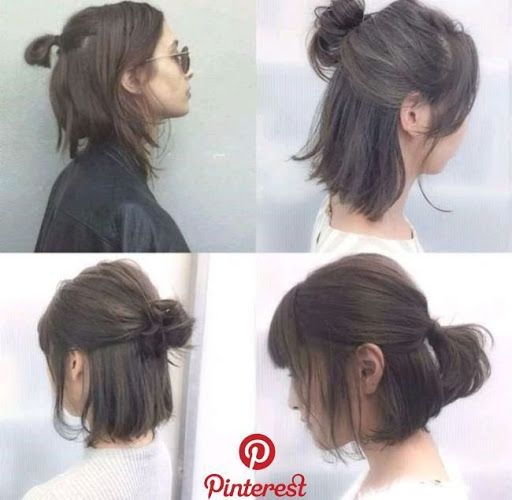 Longbob Hairstyles Short Hair Tutorial Medium Hair Styles Short Hair Updo