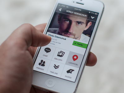 close profile - mobile interface UI UX