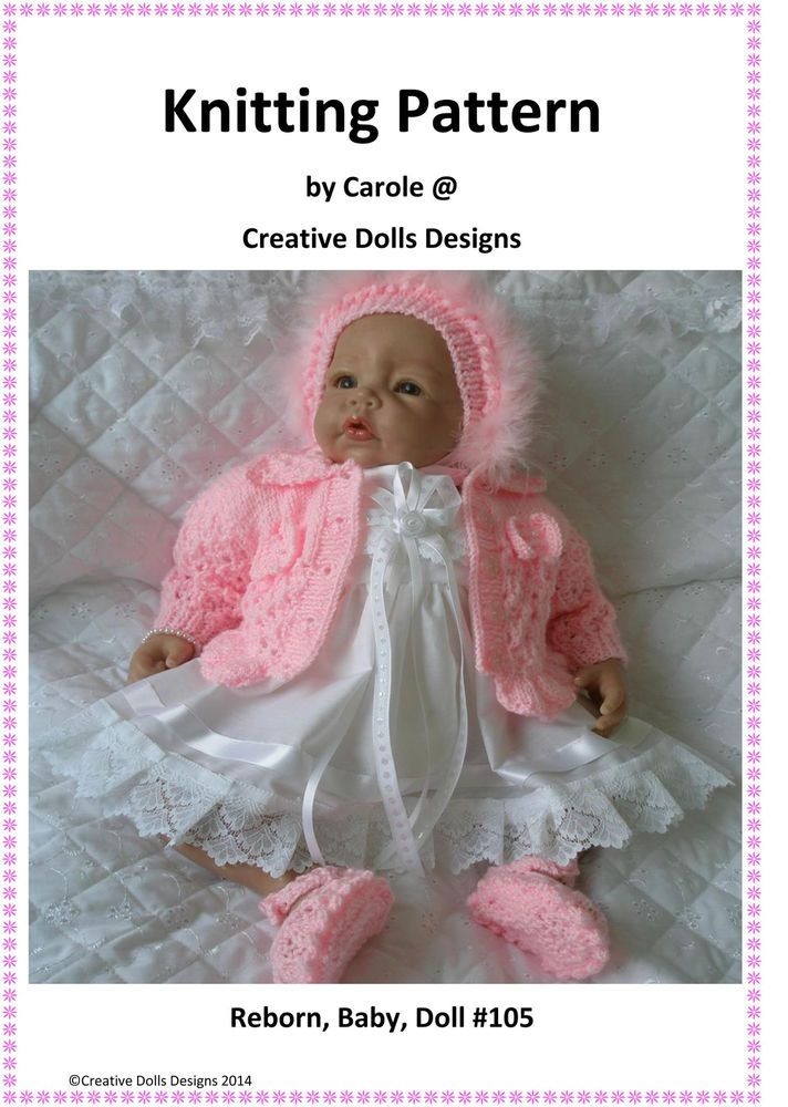 Knitting Pattern Suitable For 17 22 Baby Annabell Berenguer Reborn