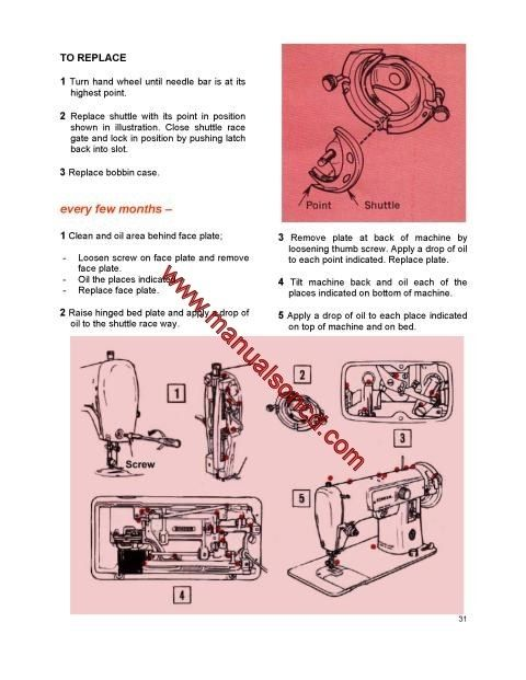 Singer 223 Sewing Machine Instruction Manual Included in this - instruction manual