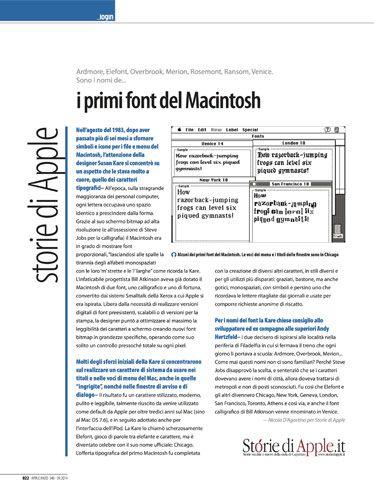"""Rubrica Storie di Apple su Applicando 340 - """"I primi font del Macintosh"""""""