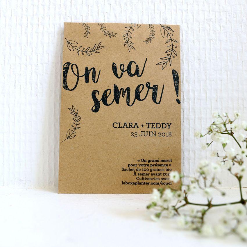 cadeau invit mariage offrez des graines planter pour. Black Bedroom Furniture Sets. Home Design Ideas