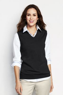 Women's Performance V-neck Sweater Vest from Lands' End $43 Comes ...