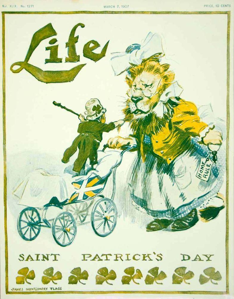 1907 cover life leprechaun james montgomery flagg st