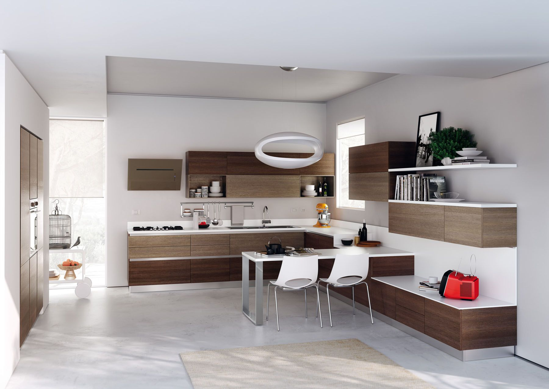 The Soul Of This Composition Is Found In The Straight Line Characteristics  And In The Standard · Contemporary KitchensContemporary ... Awesome Design