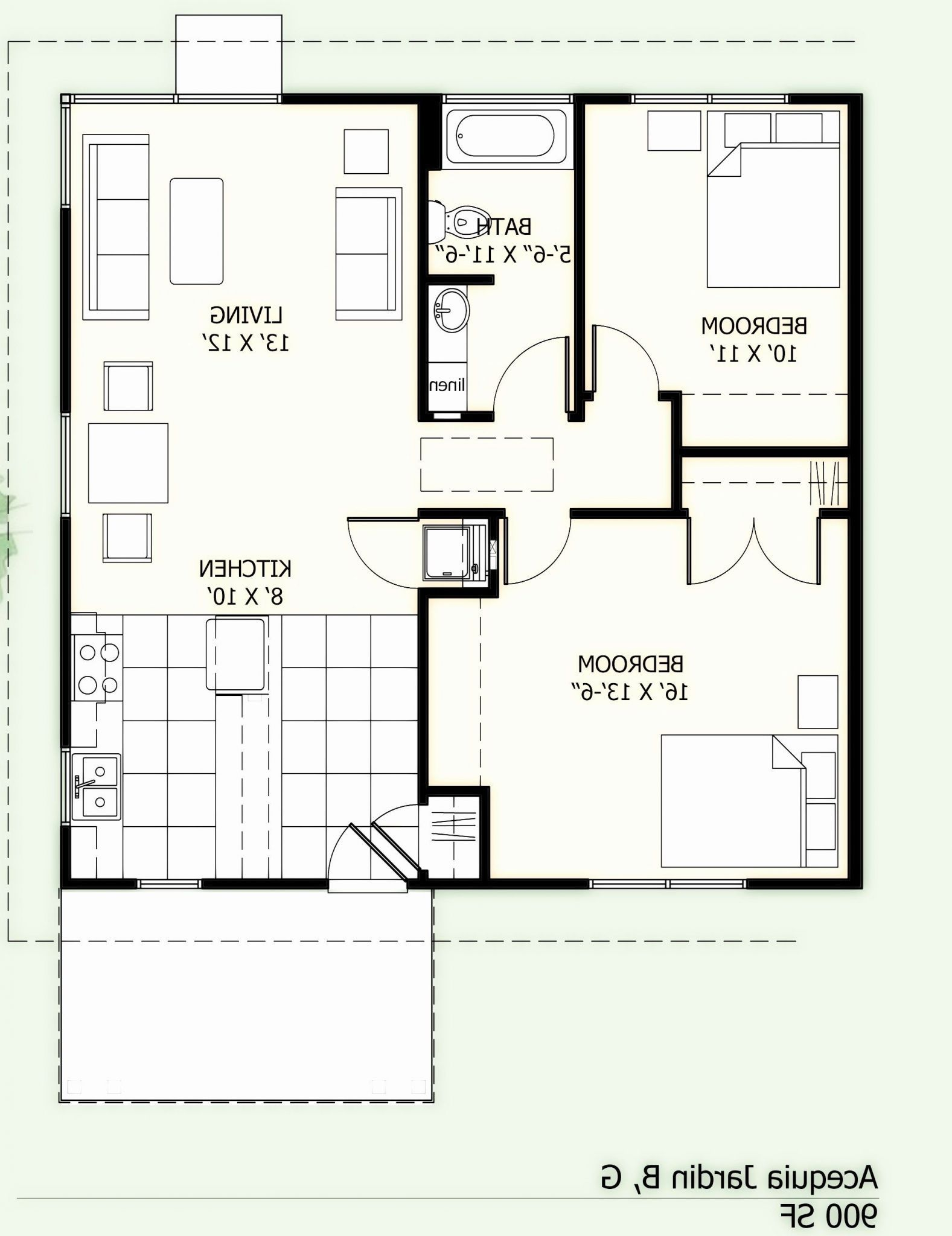 2nd Floor Deck Plans In 2020 1200sq Ft House Plans Small House Plans House Plans