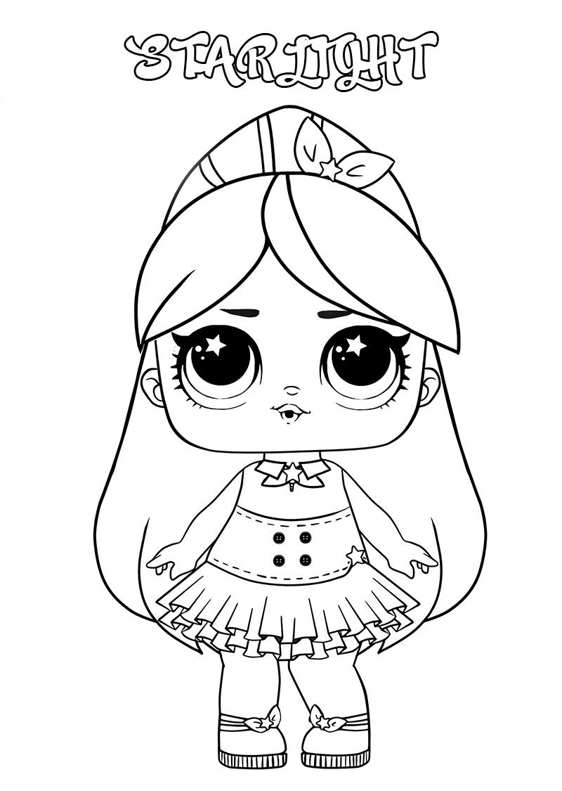 Lol Surprise Dolls Coloring Pages Print Them For Free All The Series Lol Dolls Cute Coloring Pages Colouring Pages