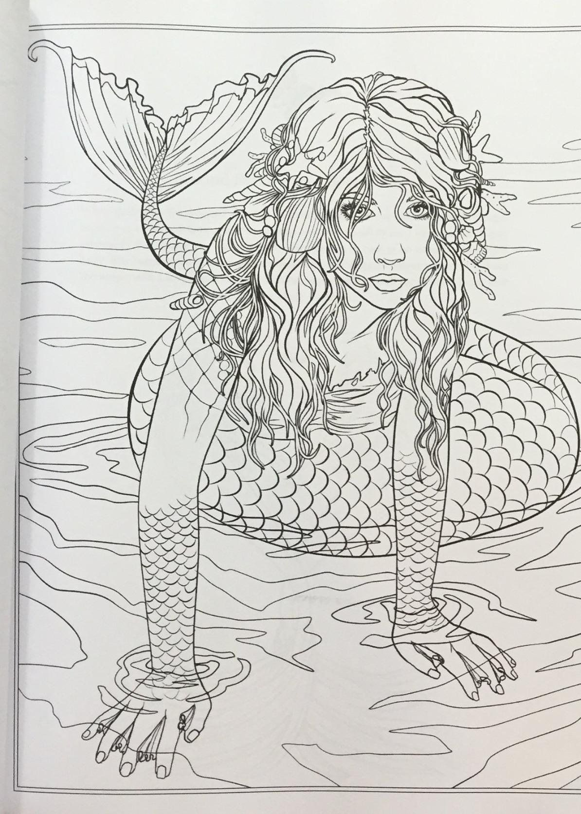 selina fenech coloring pages - mythical mermaids fantasy adult coloring book fantasy