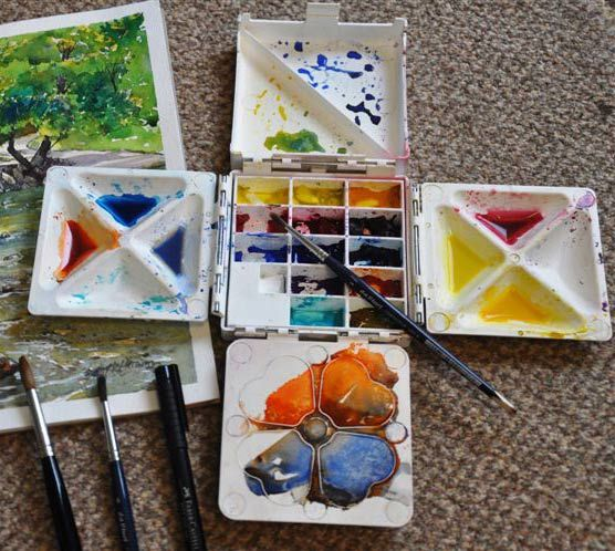 Cloverleaf Paint Box Google Search Watercolor Palette Travel