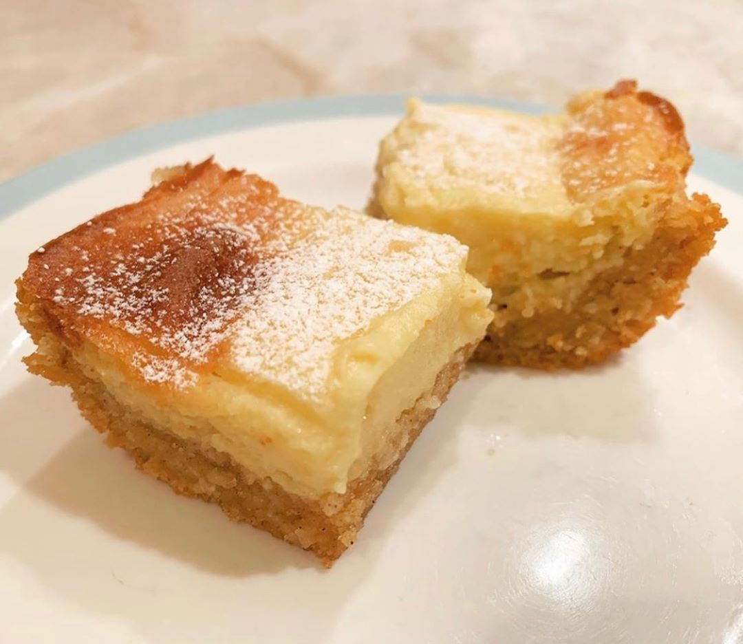 Keto gooey butter cake is the st louisest of desserts