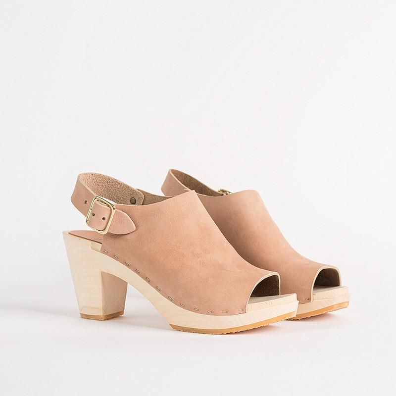 No.6 Jane Clog with Peep Toe on High Heel in Black | Styleee | Pinterest |  Clogs, High heel and Collection