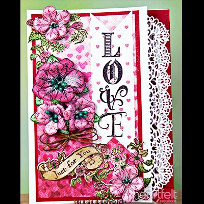 Heartfelt Creations Cut /& Emboss Dies-Heartfelt Love-Sweetheart Borders