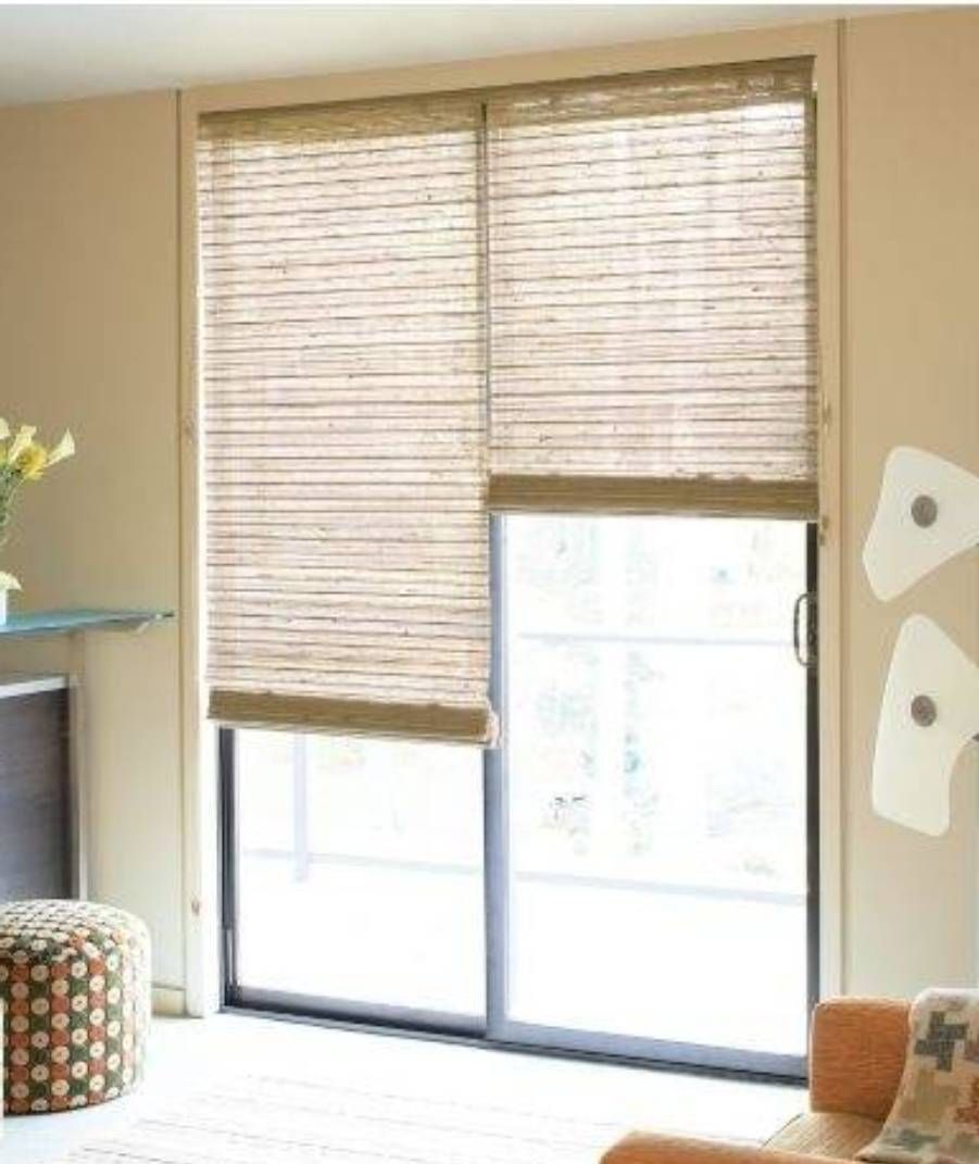 Sliding door treatment on pinterest door window covering - Curtain options for sliding glass doors ...