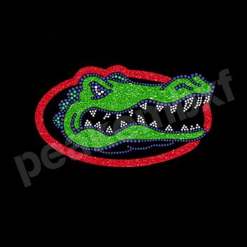 Motif Glitter Transfer Gators Basketball Team Rhinestone