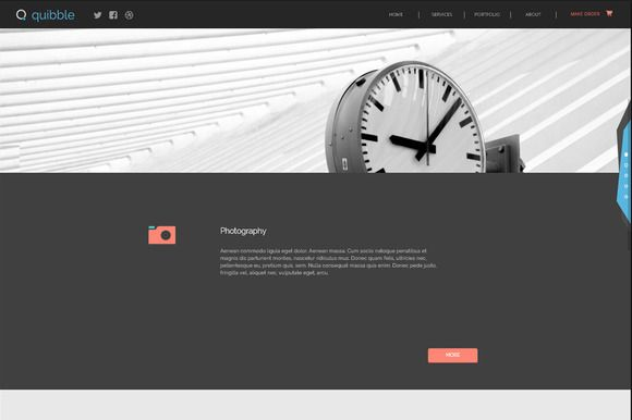 Quibble. Adobe Muse Template @creativework247