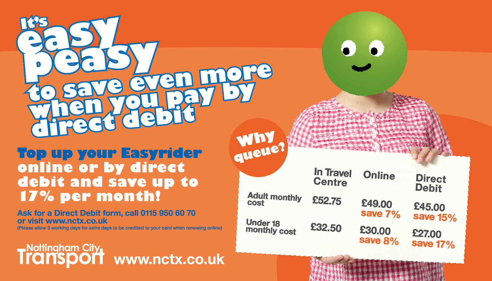 Adult City Card  Nottingham City Transport    City