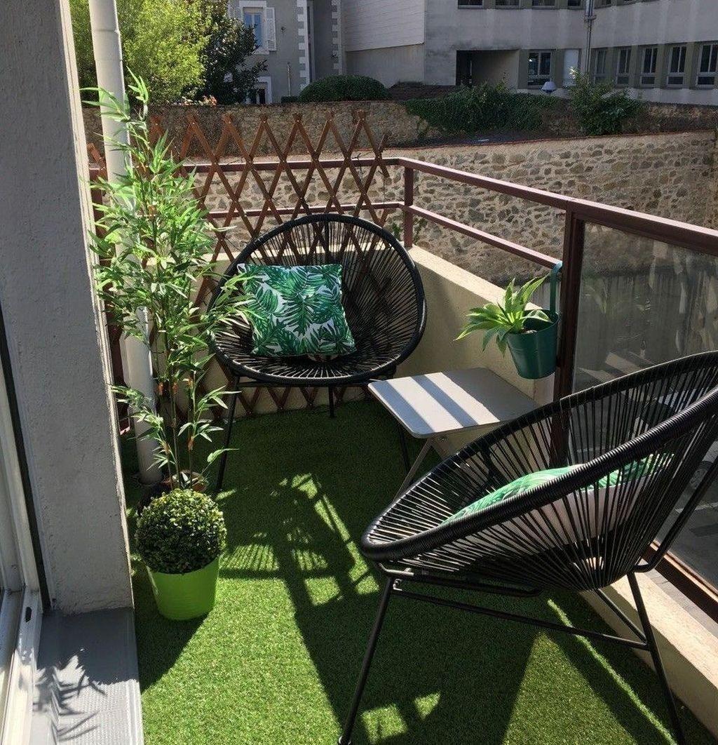 Popular Fall Apartment Balcony Decorating Ideas33 | Small ...