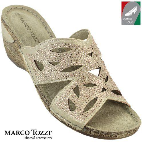 Marco Tozzi női papucs 2-27504-28 957 platina  081d86c390