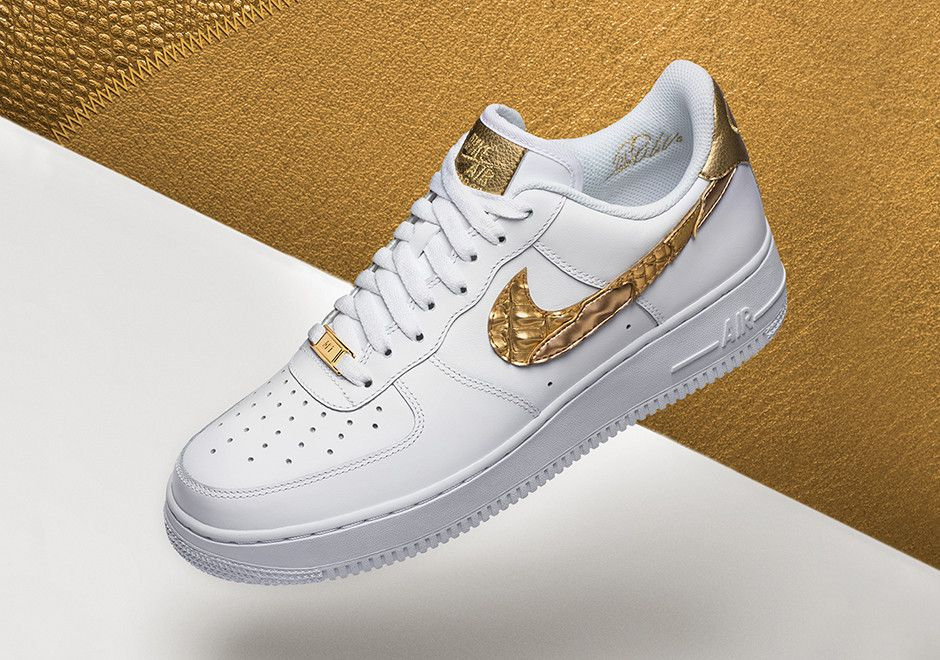 Nike Air Force 1'07 CR7 White Gold Unisex Sneakers Shoes