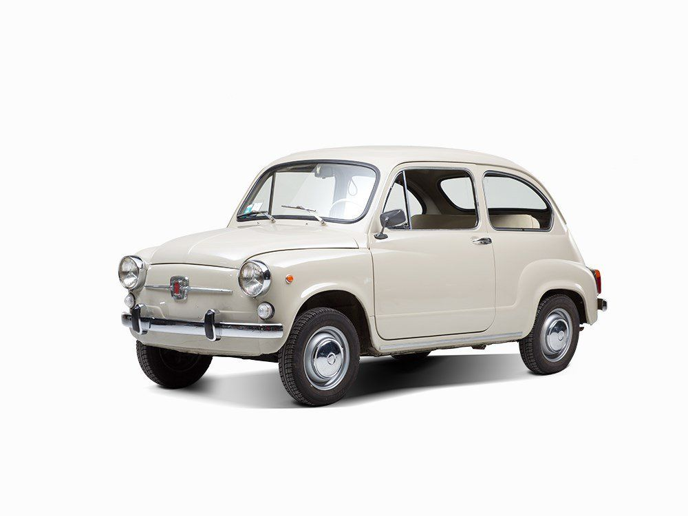 Fiat 600 D Fiat Germany, model 1966 First registration: 1966 Vehicle identification number: 2093456 Engine identification number: n. s. O,767 liter engine with 32 hp  Manual gear shift Mileage in kilometers: 65,705 Color: beige, interior: light brown/beige