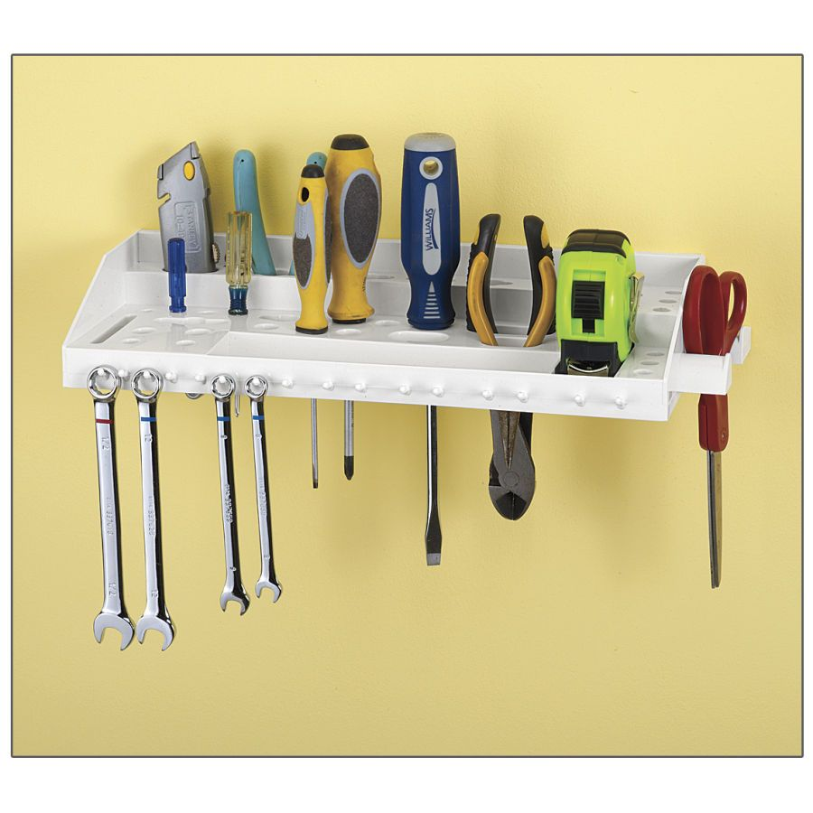 Hand Tool Wall-Mount Organizer Shelf - Problem Solvers for Home ...