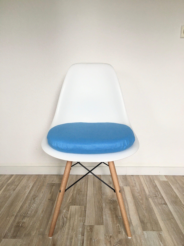 Blaues Sitzkissen Rund Gepolstertes Sitzkissen Etsy Sitzkissen Rund Sitzkissen Sitzkissen Stuhl