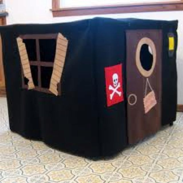 Another pirate playhouse. His one also slips over your table ...