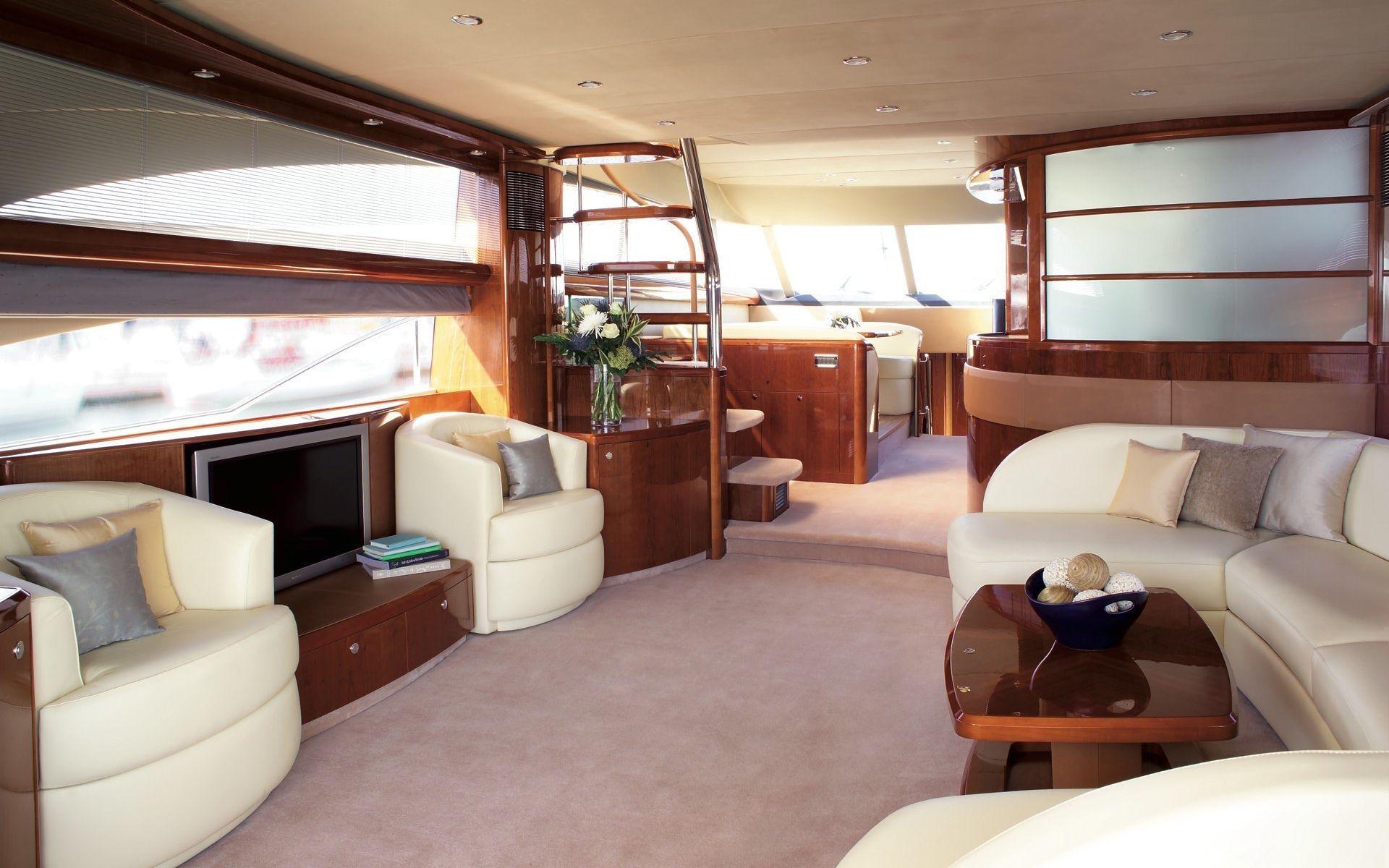 Viking Yacht 70' - Interior | Boat | Yacht interior, Boat