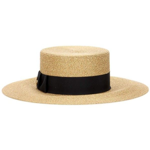 7c58273abb095 Gucci Boater Hat (2.920 HRK) via Polyvore featuring accessories ...