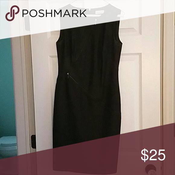 Calvin Klein dress Dark denim look with 2 zippers, stretchy, great for work! Calvin Klein Dresses Midi