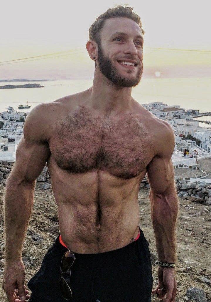 daddy behaarte brust am strand