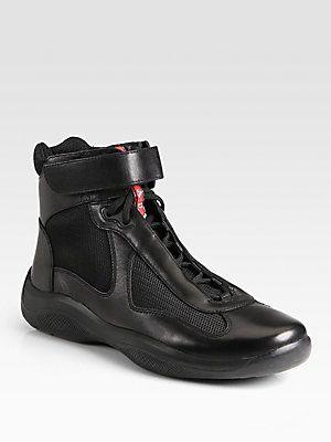 Sneakers, Prada sneakers, High top sneakers