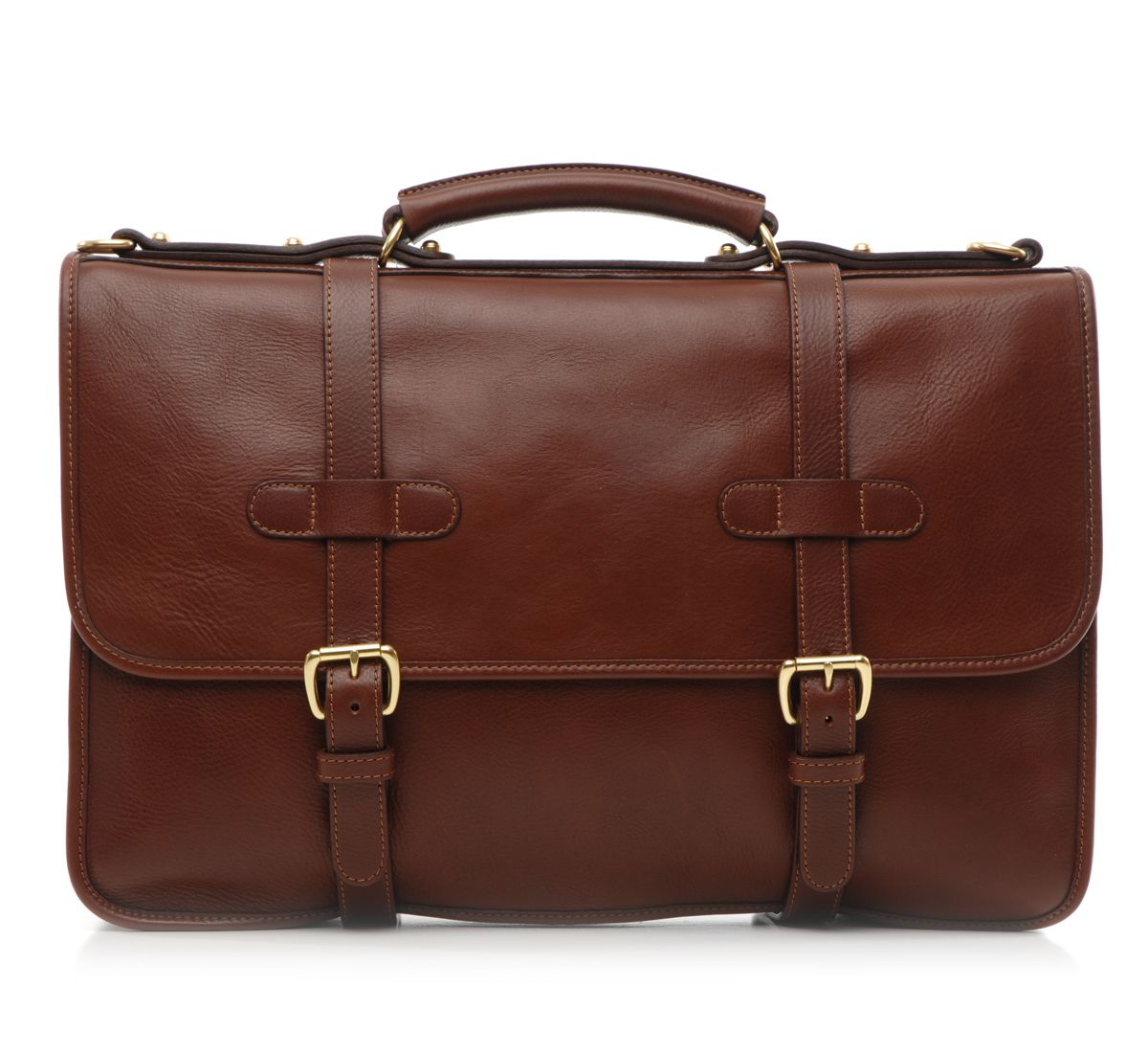 chestnut english briefcase by lotuff leather