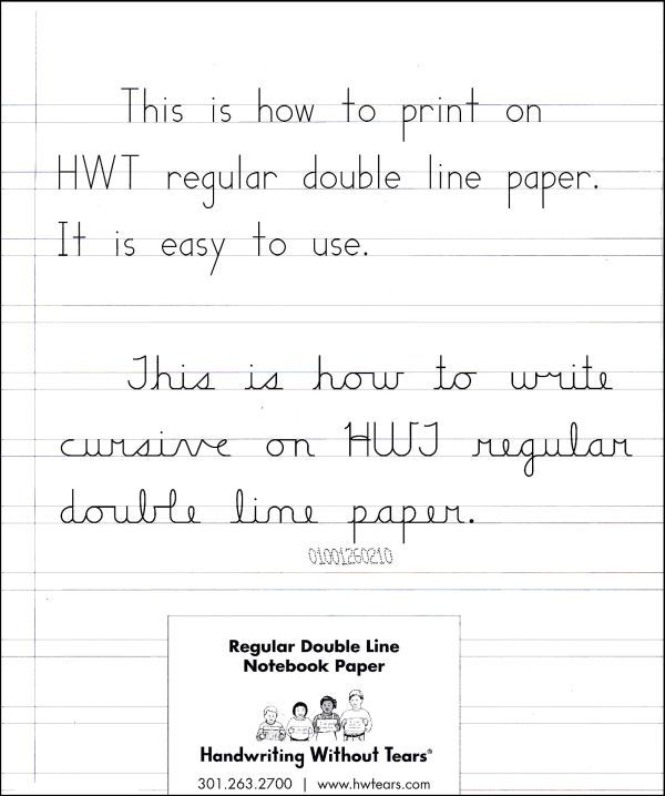 Regular Double Line Notebook Paper - 100 Sheets Main photo - lined writing paper