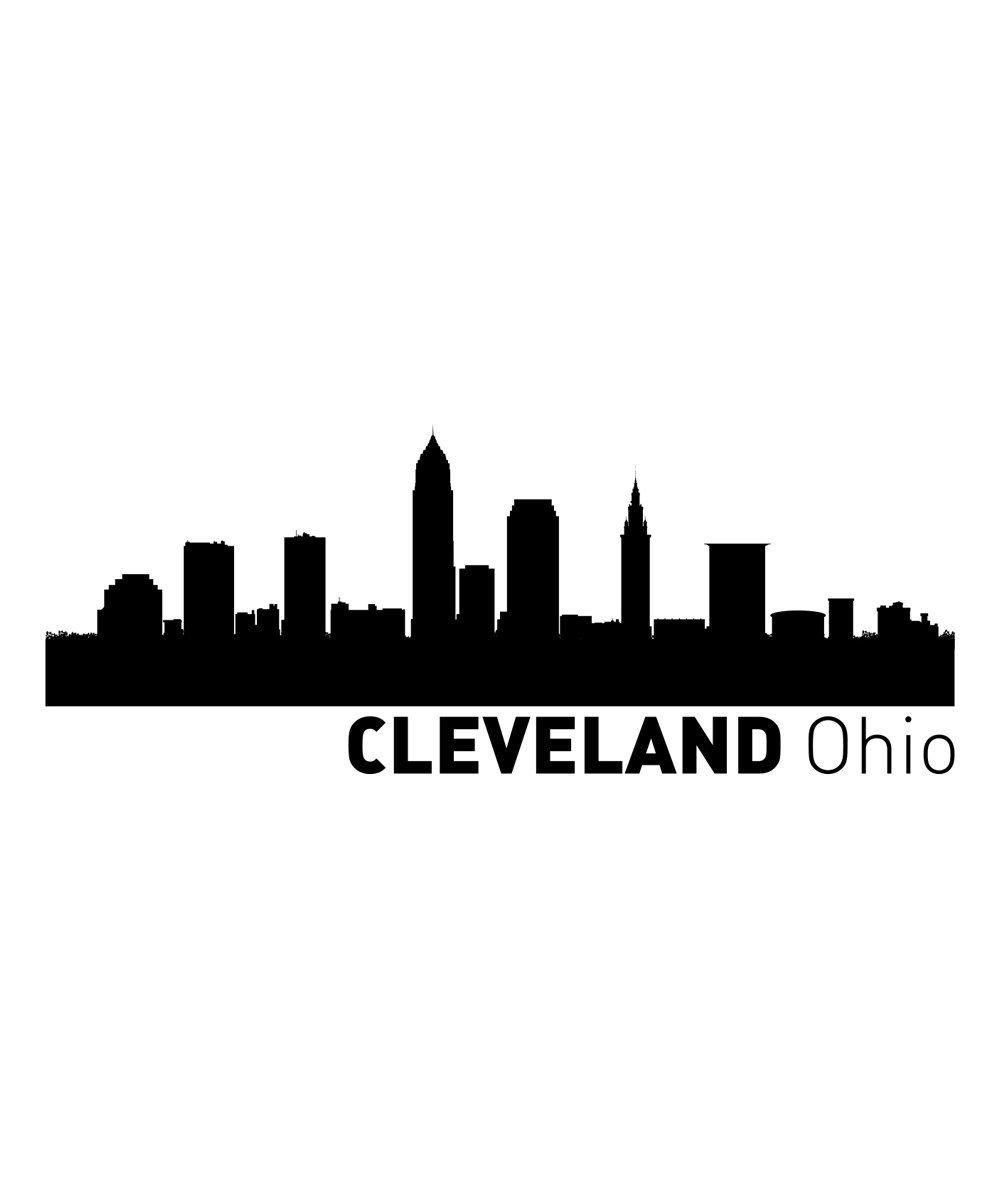 Cleveland Skyline Tattoo : cleveland, skyline, tattoo, Cleveland, Skyline, Skyline,, Ohio,