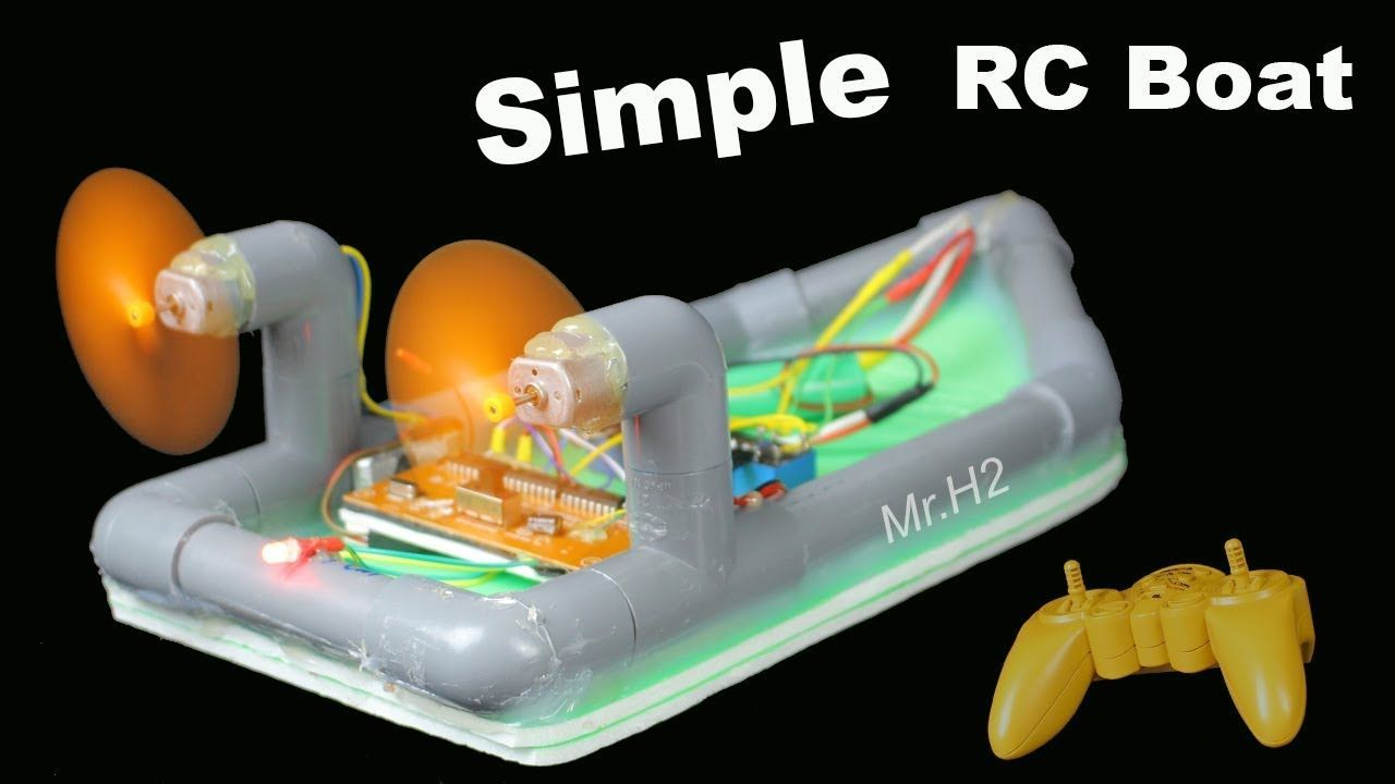 Diy Rc Boat How To Make Simple Remote Control Twin 180 Motor Very Radio R C Usin