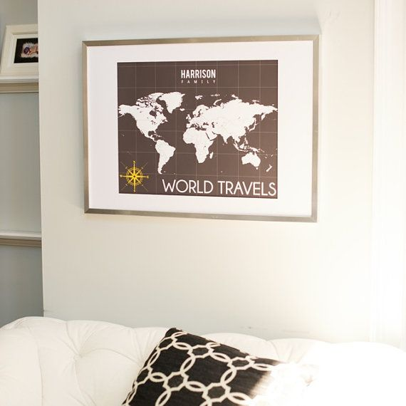 World map print interactive map mark the places youve traveled world map print interactive map mark the places youve traveled to personalized gallery wrapped canvas or print h i04 1ps aa2 gumiabroncs Images