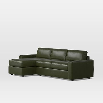 west elm Urban Leather Sleeper Sectional w/ Storage ...