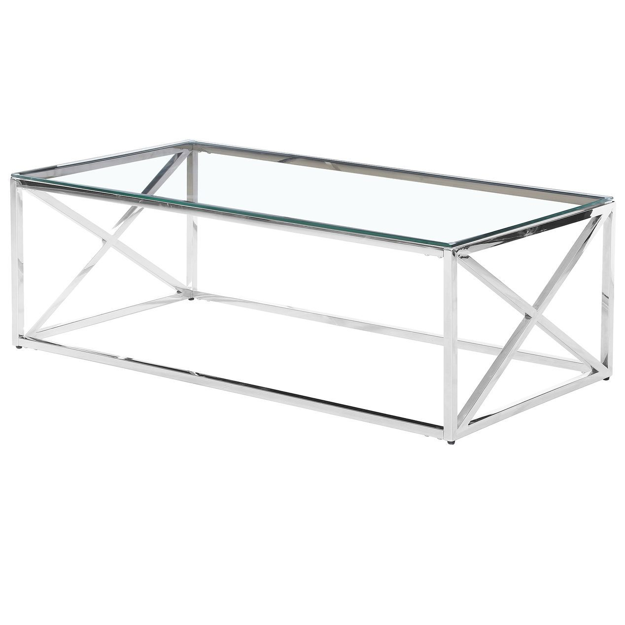 Lola Stainless Glass Cofee Tbl At Home Coffee Table Drum