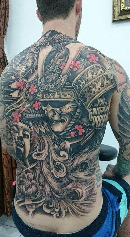 Full Back Samurai Tattoo Tattoosmenschest Tattoo Samurai Tattoo