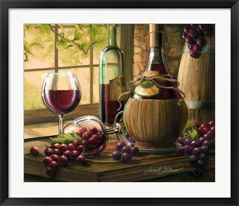 Wine By The Window I By Janet Stever In 2019 Servilletas