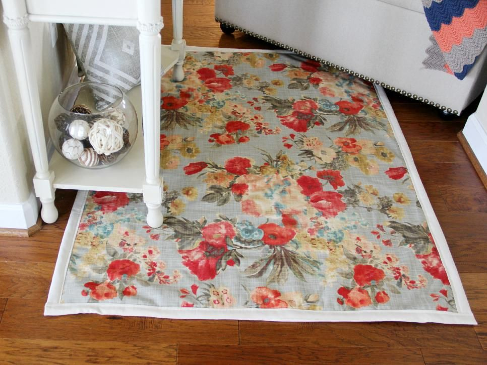 Sewing Ideas For Home Decorating Part - 37: Easy-Sew And No-Sew Instructions For Making Rugs | DIY Home Decor And