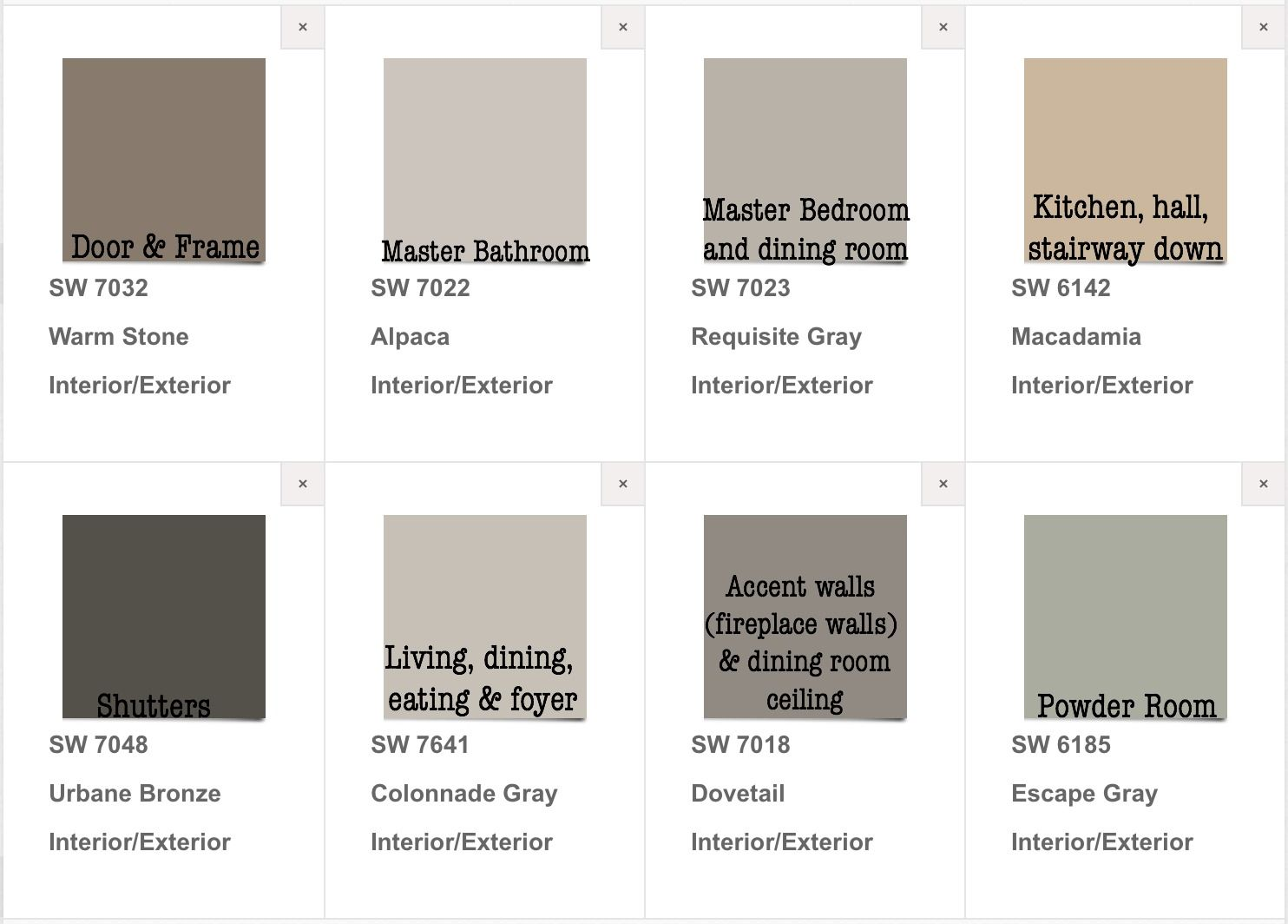 Finally picked our house paint colors interior exterior sherwin williams neutral pallette - Acrylic paint exterior plan ...