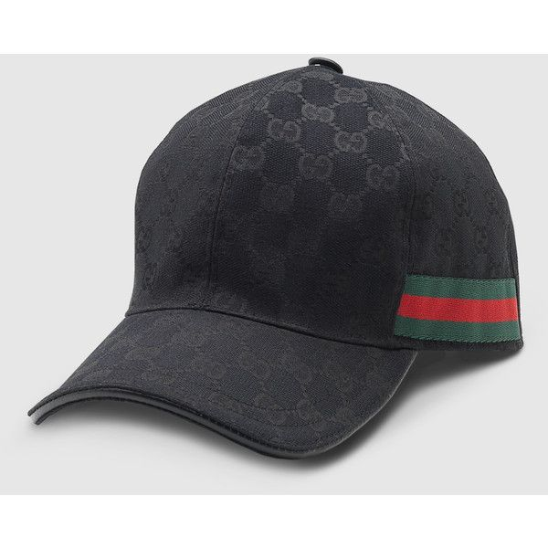 ddb94910 Discover ideas about Canvas Hat. Gucci Original Gg Canvas Baseball Hat With  Web ($235) ❤ liked on Polyvore featuring ...
