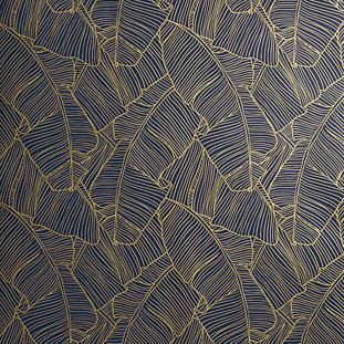 Palm Navy And Gold Self Adhesive Wallpaper Modern Wallpaper Designs Modern Wallpaper Designer Wallpaper
