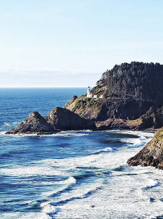 A perfect vantage point with a clear view of the Heceta Head Lighthouse.