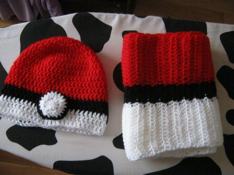 Pokemon Crochet Scarf | Gorros lana, Gorros y Lana