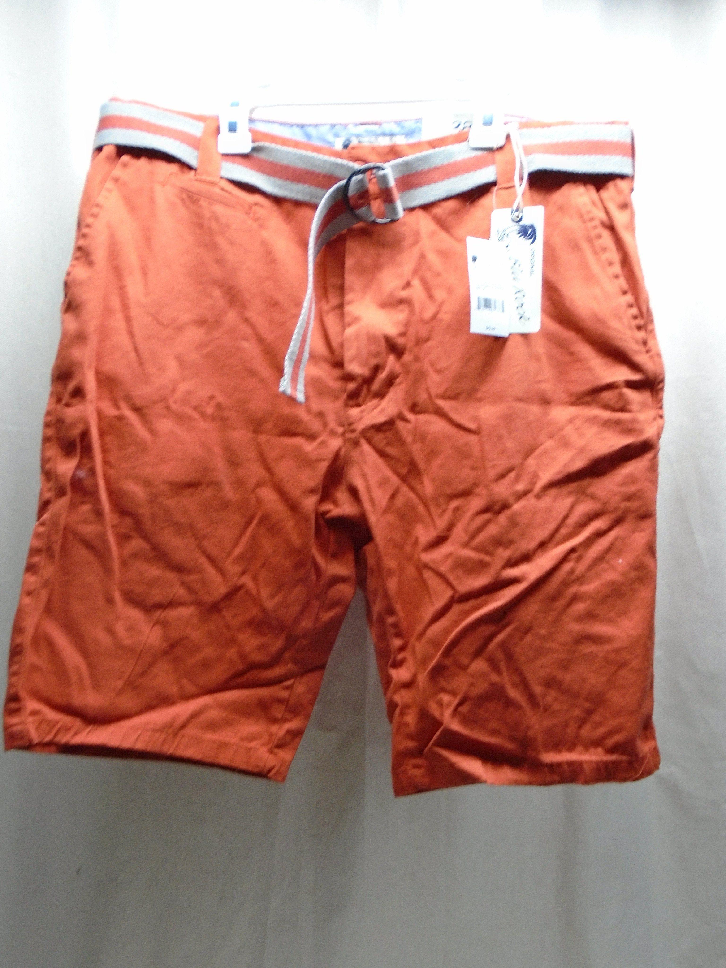 010d05c833 NWT Original Blu Rock Premium Clothing Men's Belted Cargo Shorts Size 38  Orange