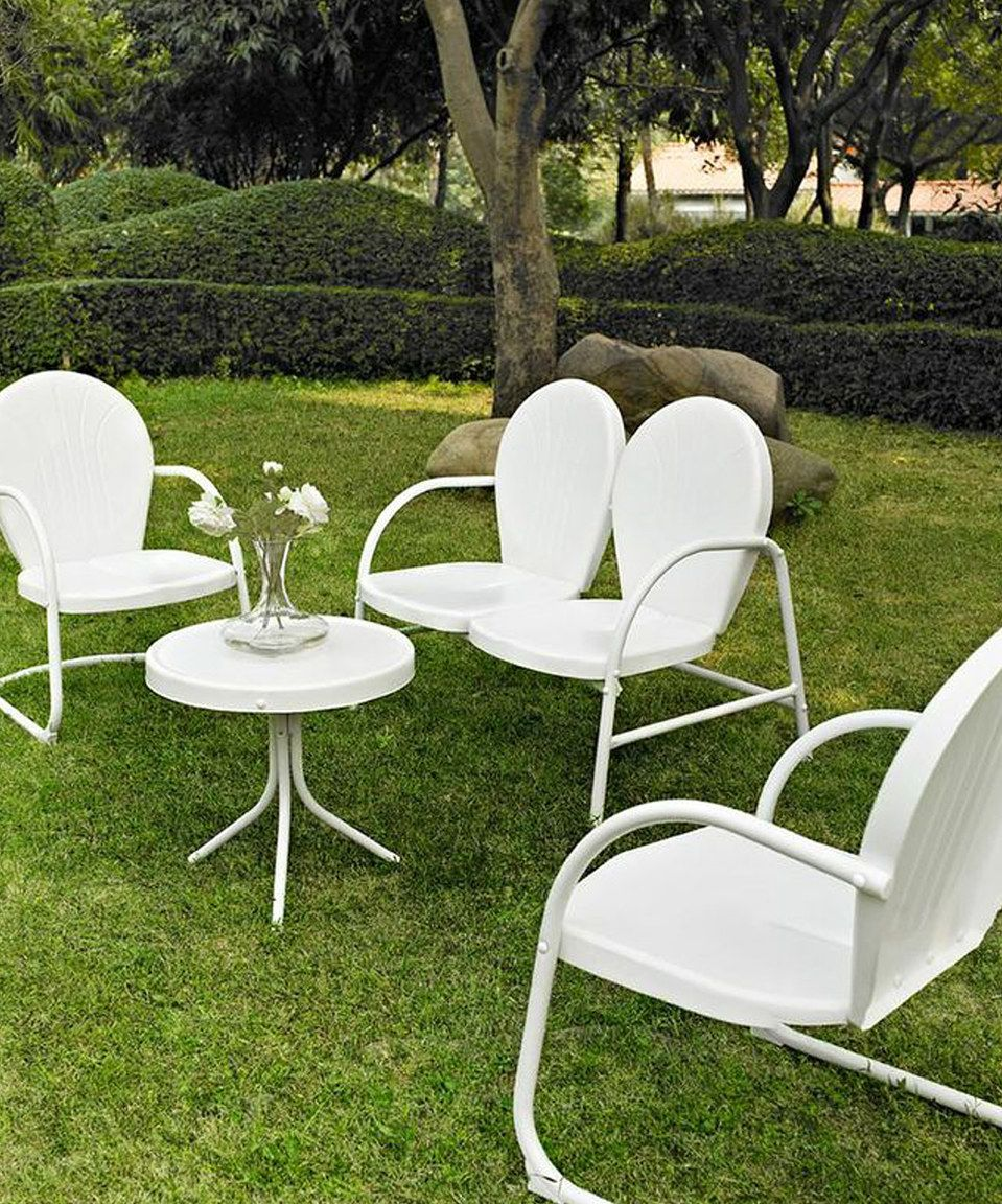 White Griffith Four Piece Seating Set By Crosley Zulily