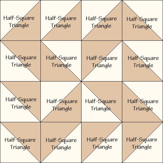Yankee Puzzle Quilt Block Diagram